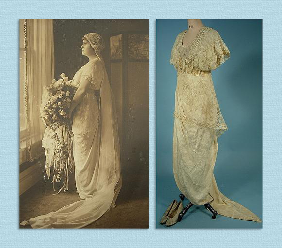 martha mears yocum on her wedding day 13th of september 1913 and wedding dress of martha mears yocum