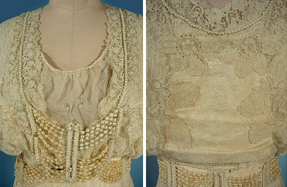 details of wedding dress of martha mears yocum